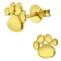 EYS JEWELRY Damen Ohrringe Hunde Pfoten 925 Sterling...