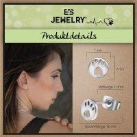 EYS JEWELRY Damen Ohrringe Hunde Pfoten 316L Edelstahl Tatzen Ohrstecker Damenohrringe Damenohrstecker