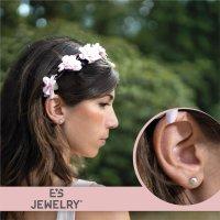 EYS JEWELRY Damen Ohrringe Chirurgenstahl 316L Perle grau...