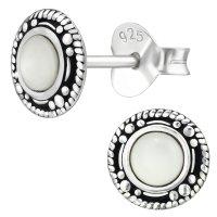 EYS JEWELRY Damen Ohrringe rund 925 Sterling Silber...