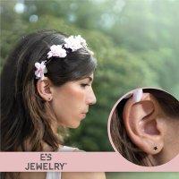 EYS JEWELRY Damen Ohrringe rund 925 Sterling Silber Glitzer-Kristall Onyx-schwarz 6 mm Ohrstecker Damenohrringe Damenohrstecker