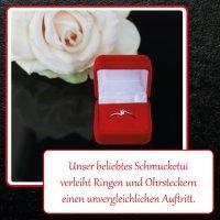 EYS JEWELRY  Schmuck-Etui für Ring 40 x 40 x 28 mm...