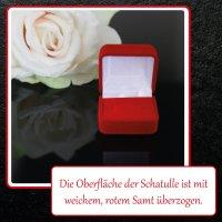 EYS JEWELRY  Schmuck-Etui für Ring 40 x 40 x 28 mm Samt rot Ring-Box Schachtel Schatulle Geschenk-Verpackung