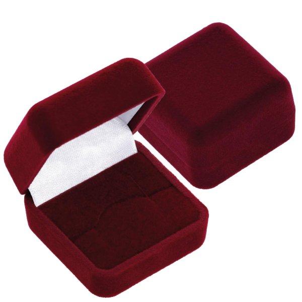 EYS JEWELRY  Schmuck-Etui für Ring 40 x 40 x 28 mm Samt bordeaux-rot Ring-Box Schachtel Schatulle Geschenk-Verpackung