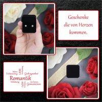 EYS JEWELRY  Schmuck-Etui für Ring 40 x 40 x 28 mm Samt schwarz Ring-Box Schachtel Schatulle Geschenk-Verpackung