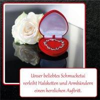 EYS JEWELRY Herz Schmuck-Etui für Collier 95 x 94 x...