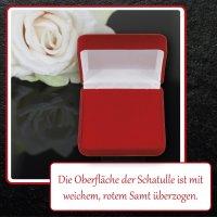 EYS JEWELRY  Schmuck-Etui für Schmuckset Halskette Ohrringe Anhänger 90 x 90 x 25 mm Samt rot Halskette-Box Ohrring-Schachtel Schatulle Geschenk-Verpackung
