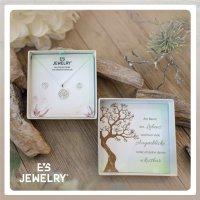 EYS JEWELRY GESCHENKBOX Damen-Schmuckset Baum des Lebens 925 Sterling Silber Zirkonia Lebensbaum Weltenbaum Ohrringe Halskette Anhänger