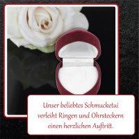 EYS JEWELRY Herz Schmuck-Etui für Ring Ohrstecker 35...