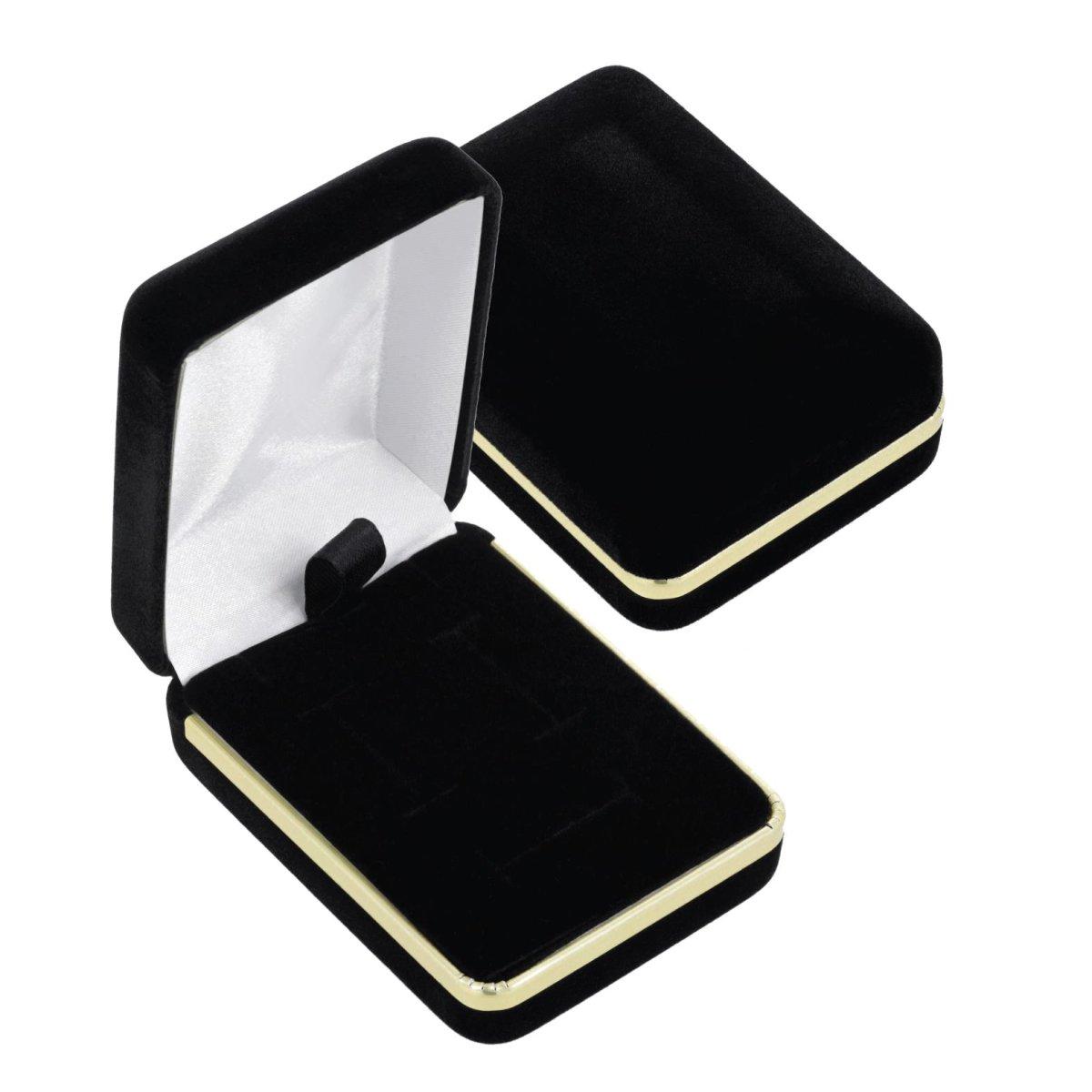 EYS JEWELRY Schmuck-Etui f/ür Ring Ohrringe Kette Anh/änger 50 x 45 x 39 mm Samt rot Ring-Box Ohrh/änger Schachtel Halskette Schatulle Geschenk-Verpackung