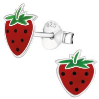 JAYARE Ohrringe Mädchen Erdbeeren 925 Sterling...