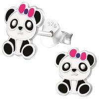 JAYARE Ohrringe Mädchen Panda-Bär 925 Sterling...