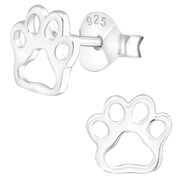 EYS JEWELRY Damen Ohrringe Hunde Pfoten 925 Sterling Silber Tatzen Ohrstecker Damenohrringe Damenohrstecker