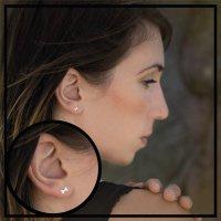 EYS JEWELRY Damen Ohrringe Hunde-Knochen 925 Sterling...
