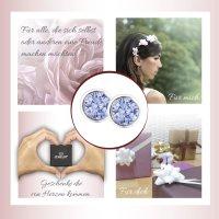 EYS JEWELRY  rund 925 Sterling Silber Zirkonia lavendel-lila Damen-Ohrringe