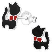 JAYARE Ohrringe Mädchen Katzen Kätzchen 925...