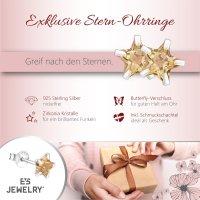 EYS JEWELRY Damen Ohrringe Sterne 925 Sterling Silber Zirkonia 6 mm Ohrstecker Damenohrringe Damenohrstecker