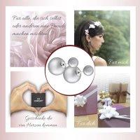 EYS JEWELRY  Perlen 925 Sterling Silber grau Damen-Ohrringe