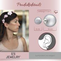 EYS JEWELRY  Perlen 925 Sterling Silber pfirsisch Damen-Ohrringe