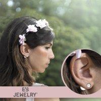 EYS JEWELRY  Perlen 925 Sterling Silber weiß Damen-Ohrringe