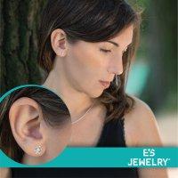 EYS JEWELRY Damen Ohrringe Schildkröten 925 Sterling Silber oxidiert 10 x 8 mm Ohrstecker Damenohrringe Damenohrstecker