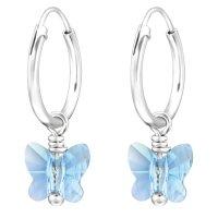JAYARE Ohrringe Mädchen Creole Schmetterling 925...