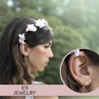 EYS JEWELRY  rund 925 Sterling Silber Glitzer Kristalle AB-weiß Damen-Ohrringe