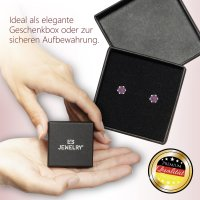 EYS JEWELRY  rund 925 Sterling Silber Glitzer Kristalle violett-lila Damen-Ohrringe