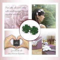 EYS JEWELRY  rund 925 Sterling Silber Glitzer Kristalle palace-green-opal Damen-Ohrringe