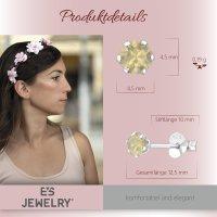 EYS JEWELRY  rund 925 Sterling Silber Glitzer Kristalle sand-opal Damen-Ohrringe