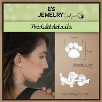 EYS JEWELRY Damen Ohrringe Hunde Pfoten 925 Sterling Silber Hund Ohrstecker Damenohrringe Damenohrstecker